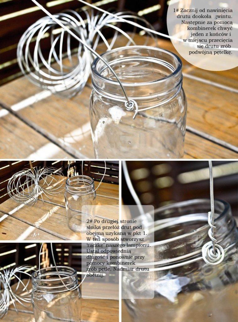 DIY lampiony ze słoików