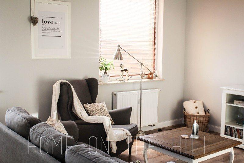 salon w skandynawskim stylu, typograficzny plakat