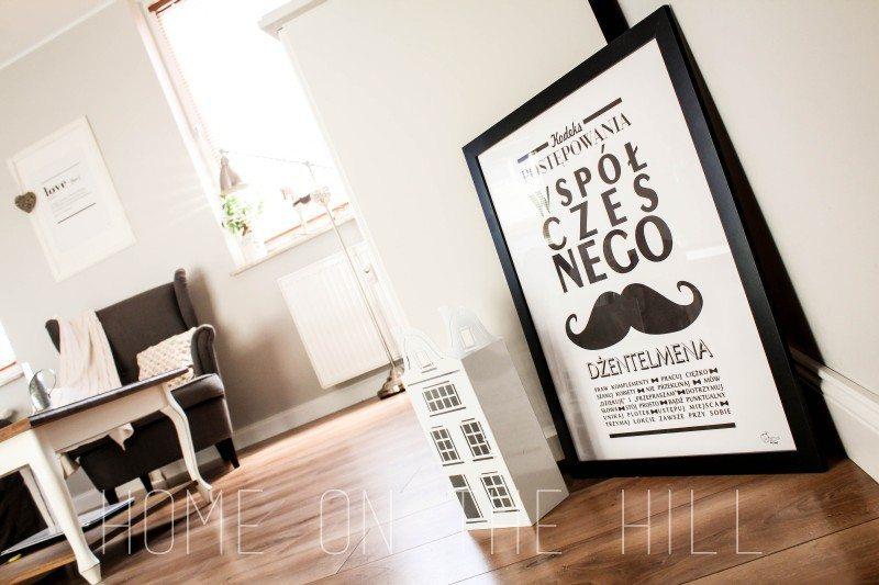 salon w skandynawskim stylu, plakaty na ścianę