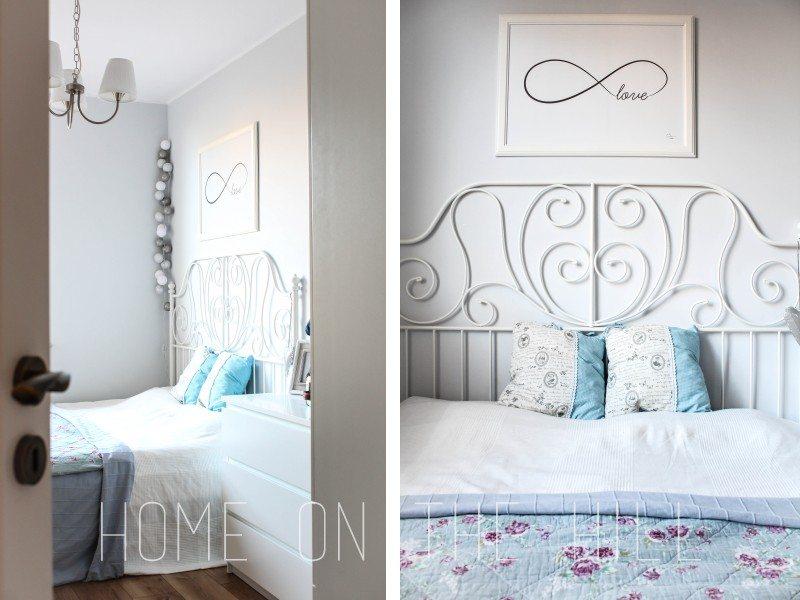 sypialnia w skandynawskim stylu, stylowa sypialnia, cotton ball lights