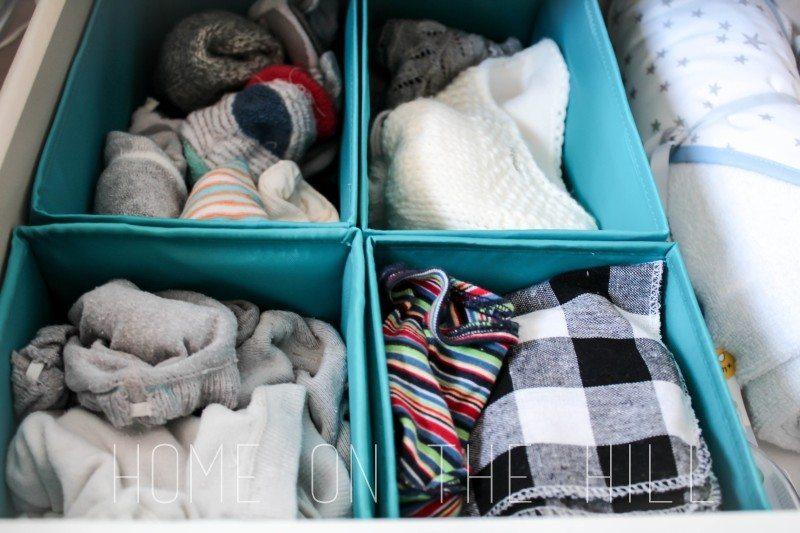 przechowywanie rzeczy dla niemowląt