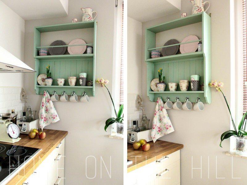 miętowa półka, półka kuchenna