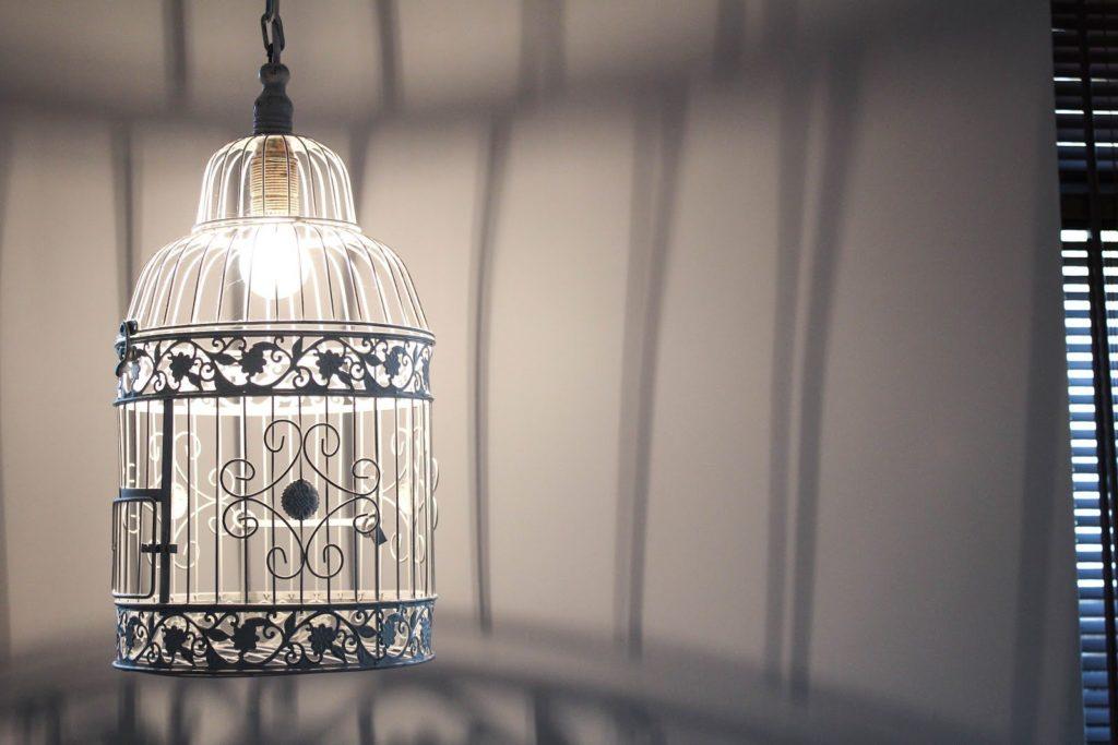 lampa z klatki, oryginalna lampa