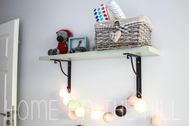 cotton ball lights, kącik niemowlaka, szydełkowy miś