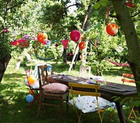 dziecięce przyjęcie w ogrodzie
