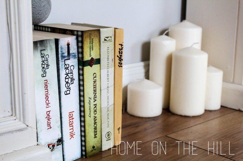 książki jako dekoracja