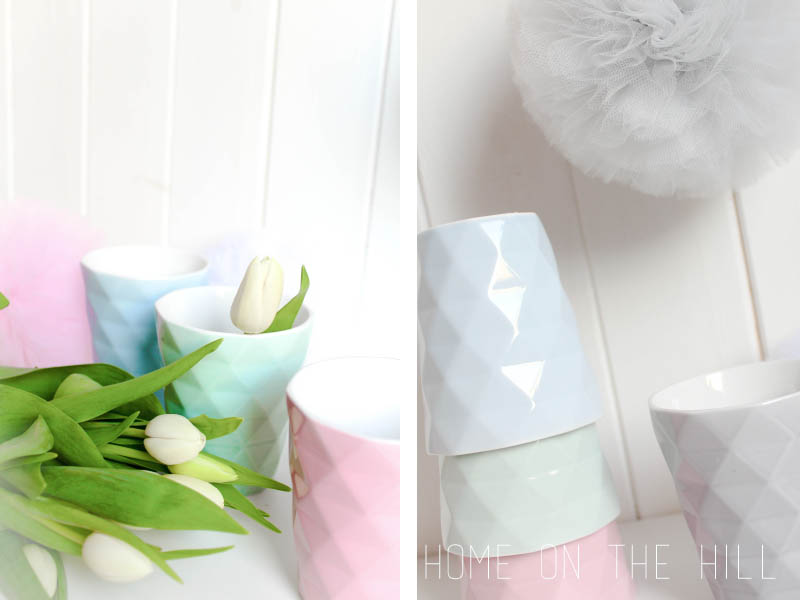 pastelowe kubki, tulipany