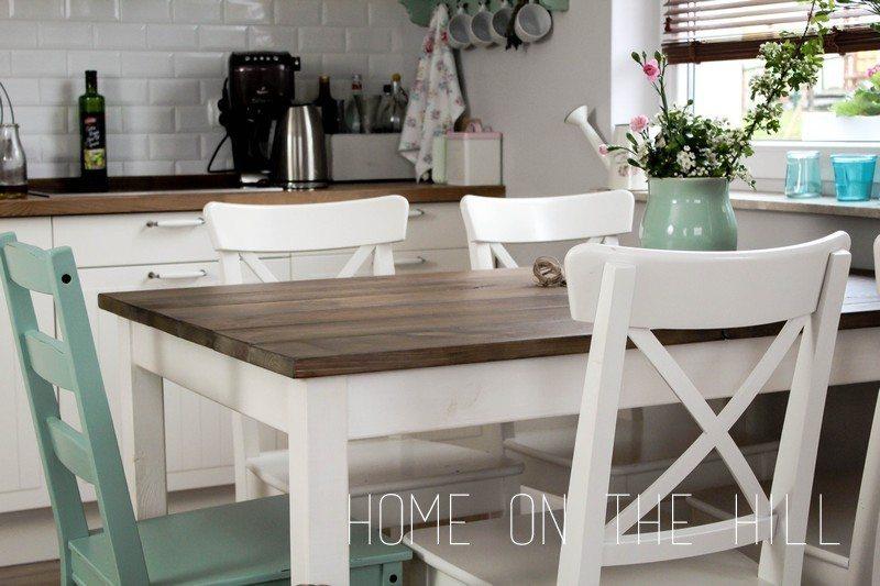 własnoręcznie zrobiony stół z desek