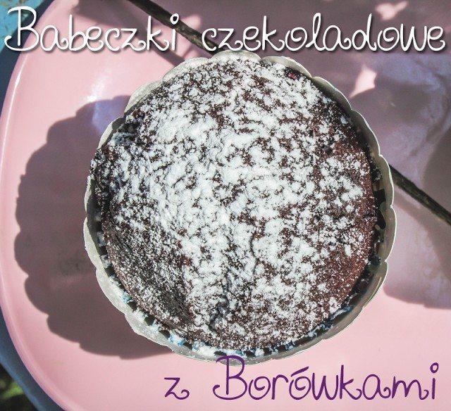 babeczki czekoladowe z borówkami przepis