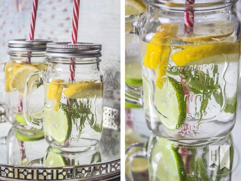 lemoniada słoiki ze słomkami