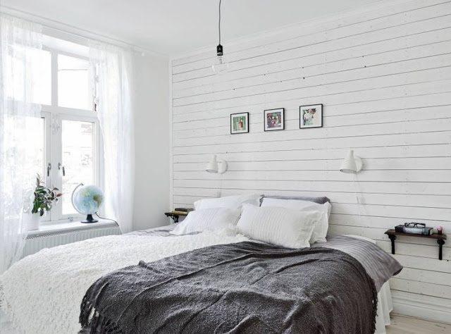 drewniana boazeria pomalowana na biało
