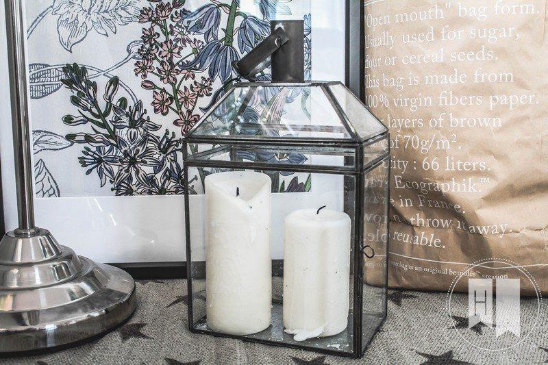 lampion bloomingville, szklany lampion
