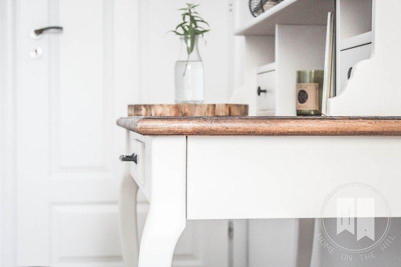 białe biurko styl skandynawski