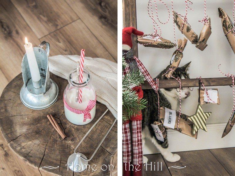 DIY drabina wnętrza skandynawski styl