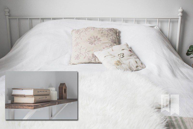 drewno i biel w sypialni