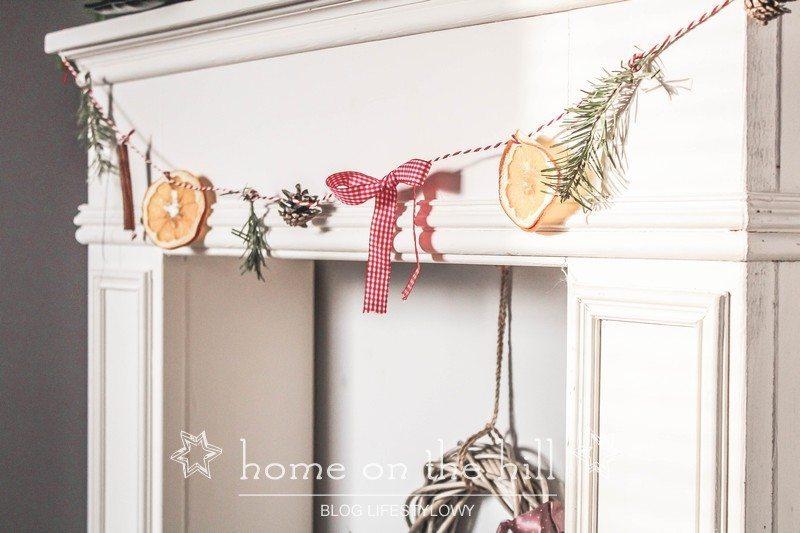 DIY świąteczny łańcuch