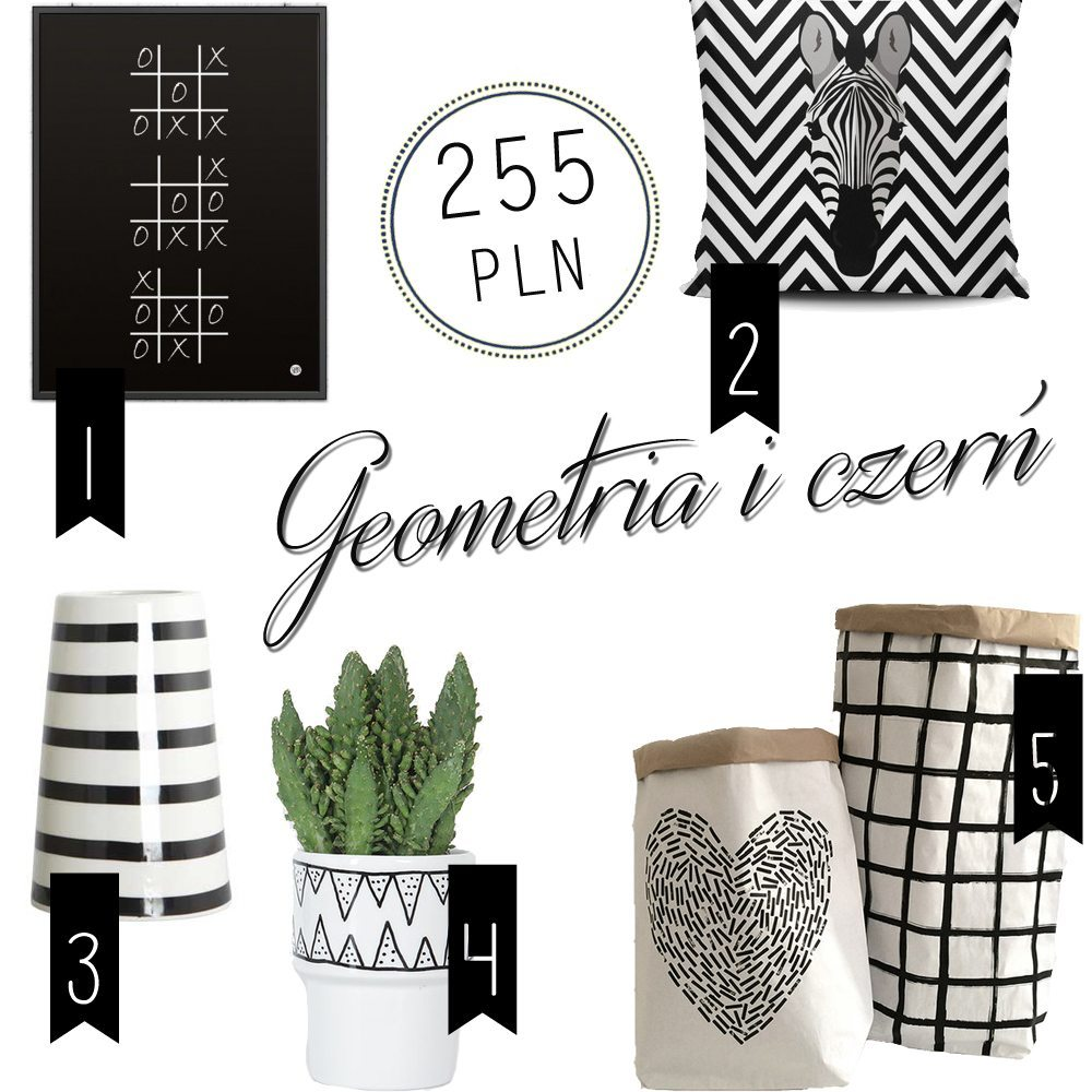 dodatki geometryczne, black&white