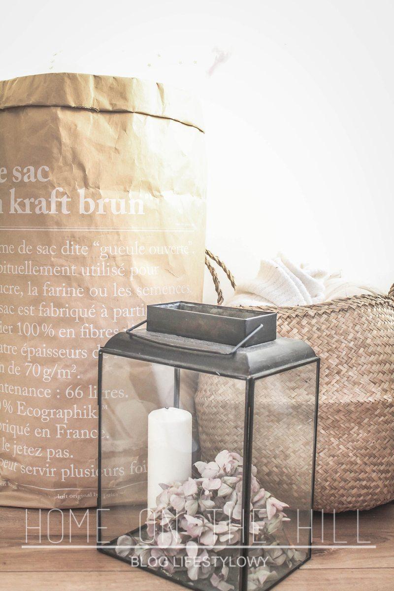 lampion, papierowa torba