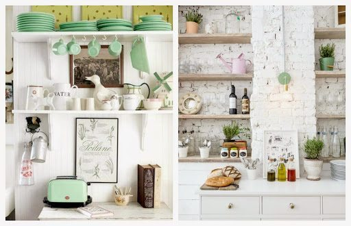 półki zamiast szafek kuchennych