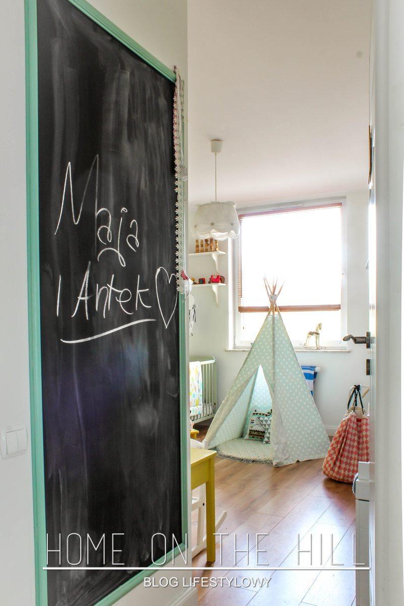 tablica w pokoju dla dzieci