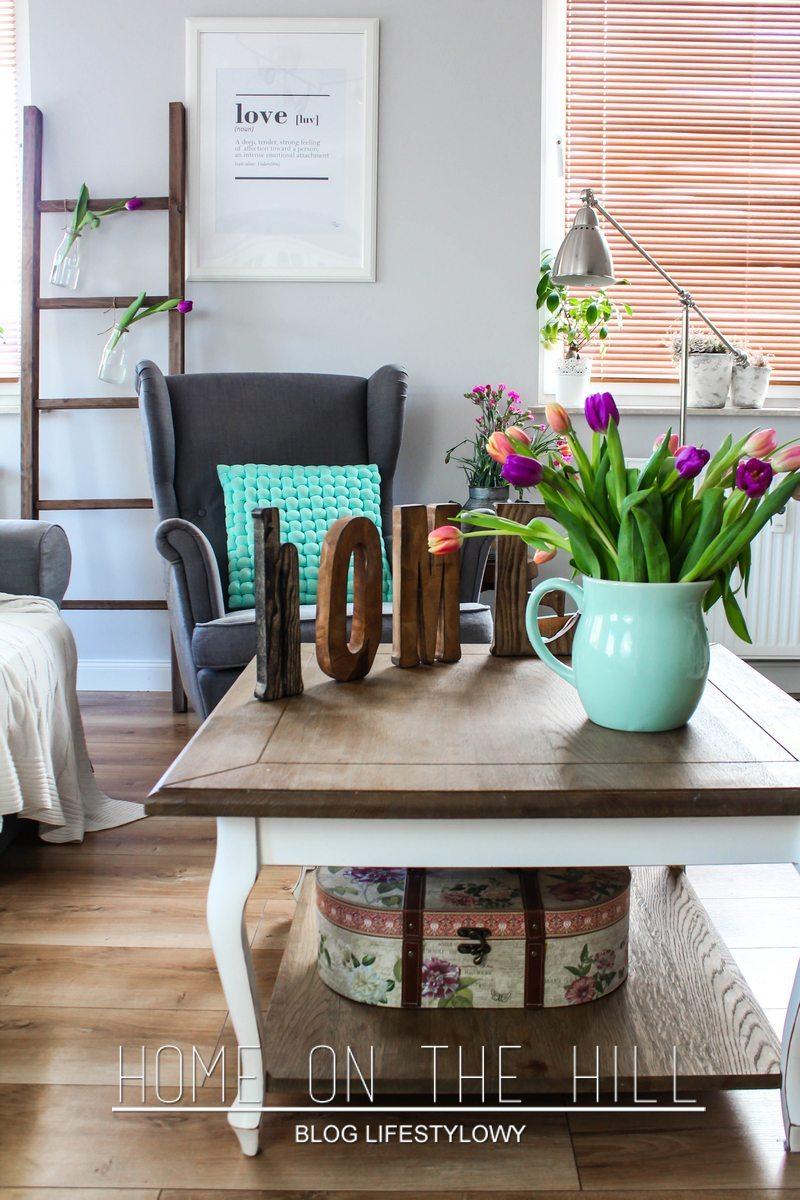 stolik kawowy w stylu prowansalskim