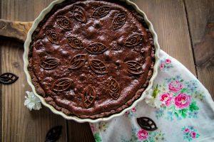 czekoladowa tarta z bananami
