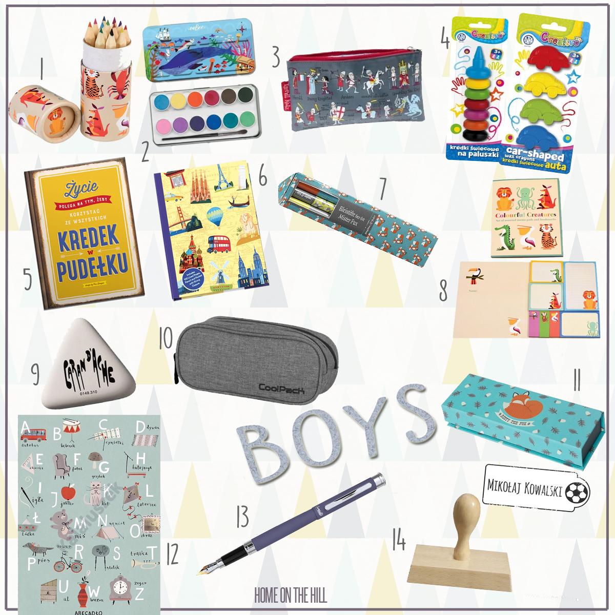 przybory szkolne dla chłopca