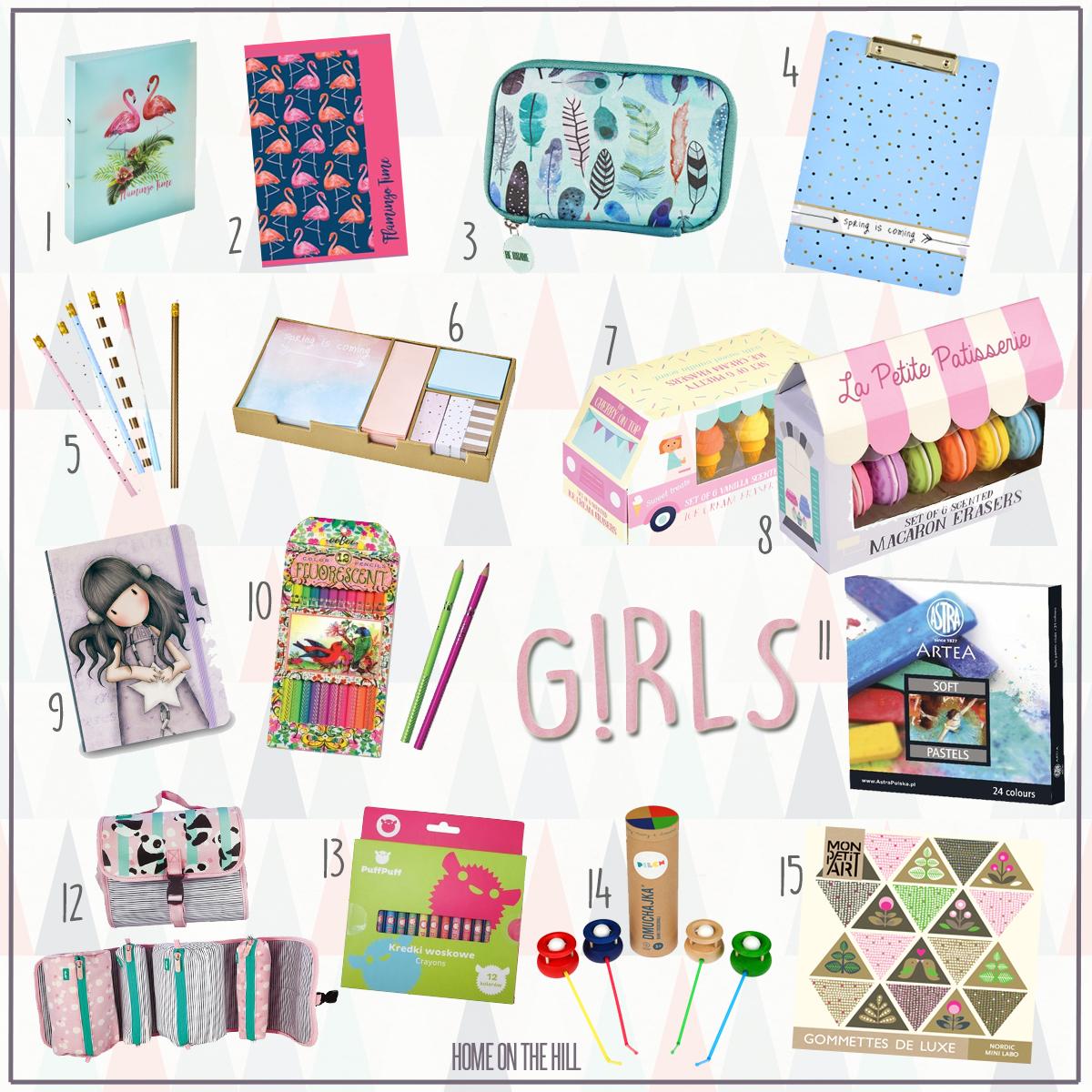 przybory szkolne dla dziewczynki