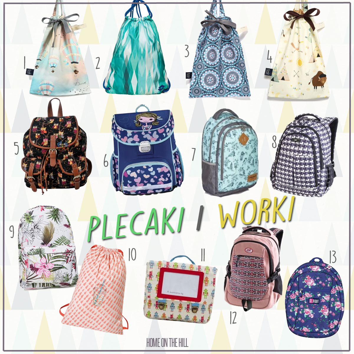najpiękniejsze plecaki do szkoły