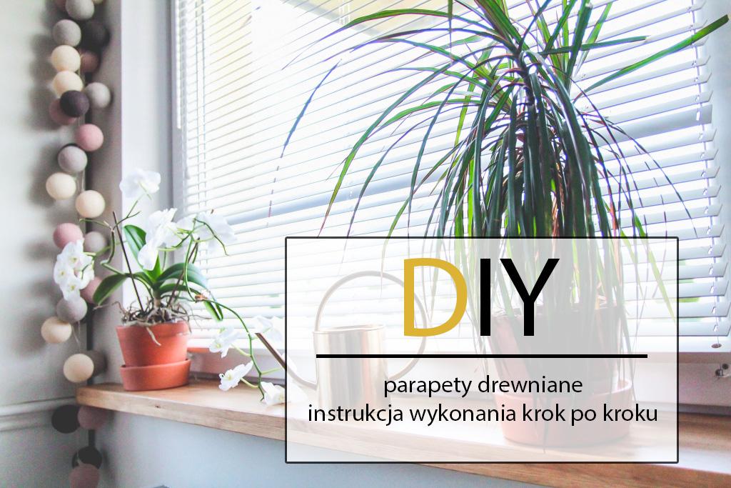 drewniane parapety DIY