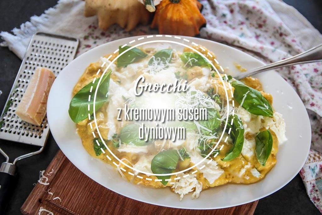 Gnocchi z kremowym sosem dyniowym.