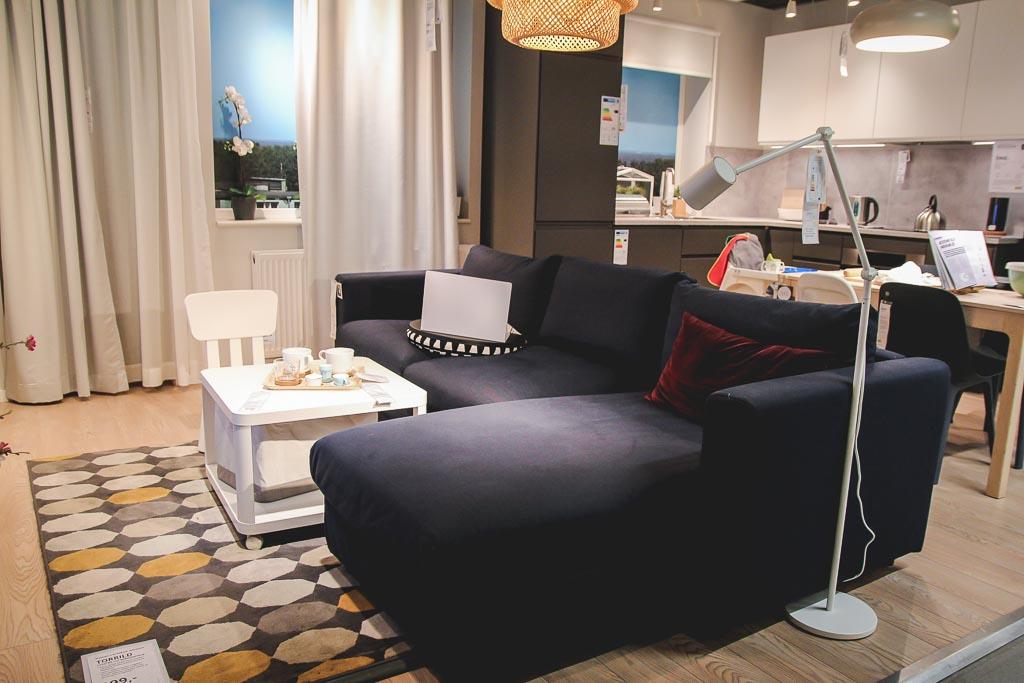 sofa w kształcie litery L Ikea