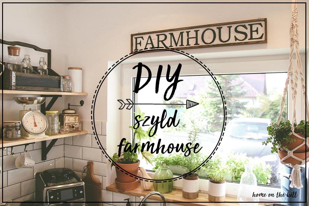 szyld farmhouse diy